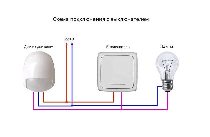 Как установить датчик движения своими руками: схемы для подключения и инструкция - vodatyt.ru