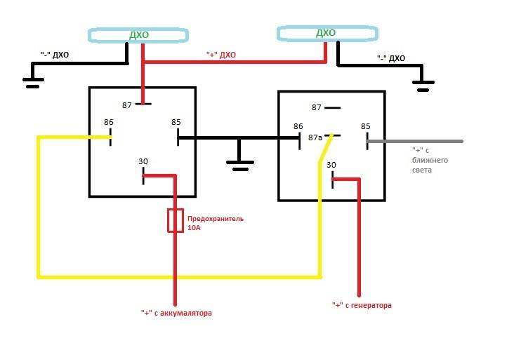 7 схем подключения дневных ходовых огней