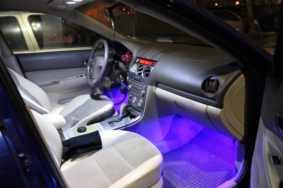 Установка светодиодной и неоновой подсветки салона автомобиля своими руками