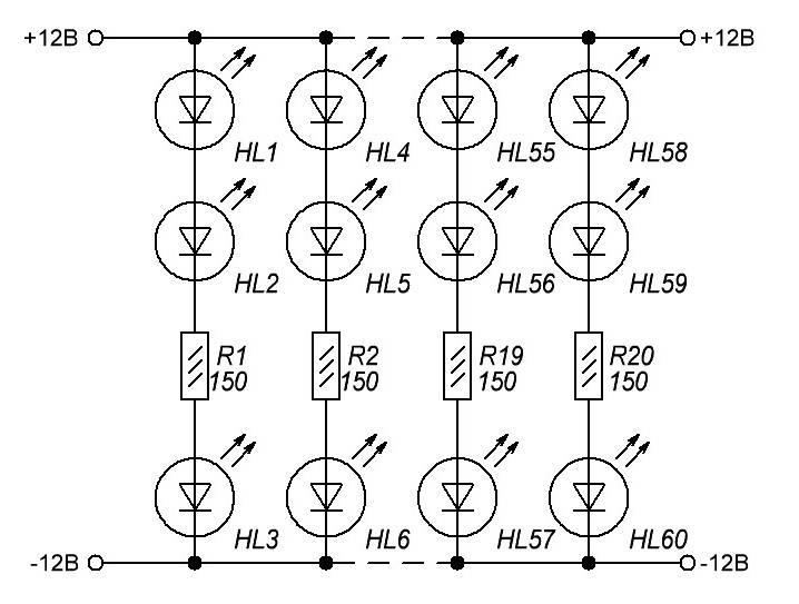 Светодиоды на 12 вольт: особенности и схемы подключения