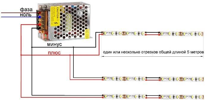 Потребление тока светодиодной лентой 1 метр