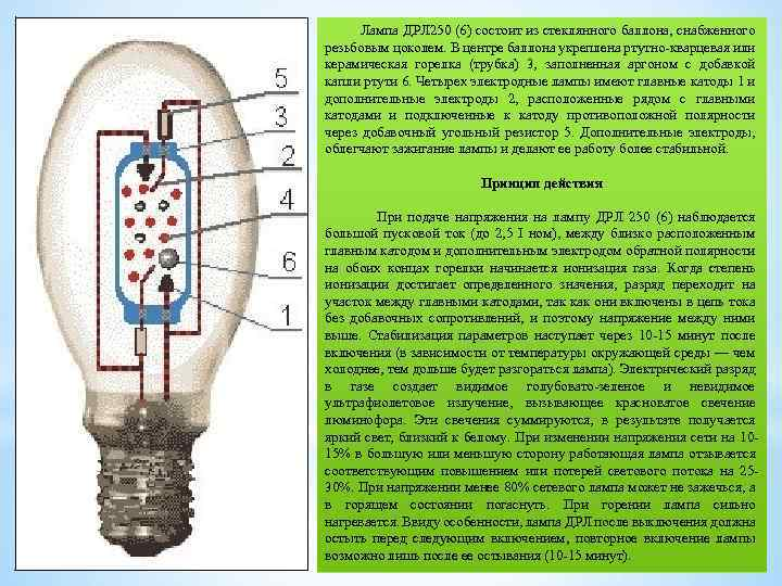 Газоразрядные лампы: разновидности и принцип действия + особенности работы