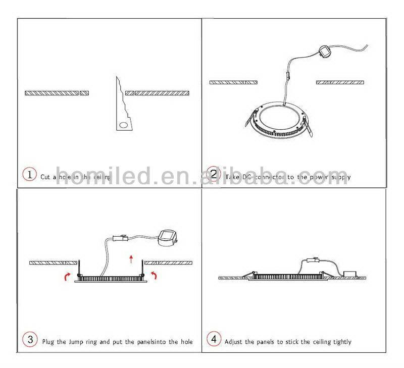 2 способа как установить квадратный светильник в натяжной потолок.
