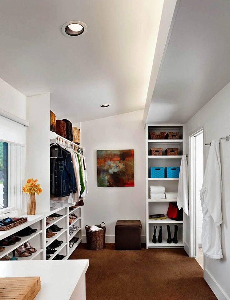 Особенности дизайна гардеробной комнаты, оптимальная комплектация