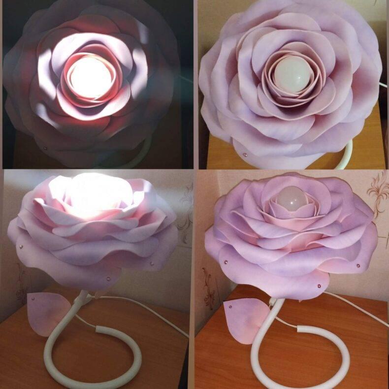 Как из изолона быстро сделать классный торшер-розу в домашних условиях