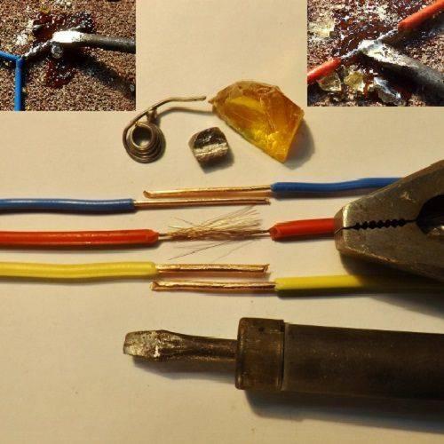 Как паять провода и правильно спаять два провода паяльником между собой