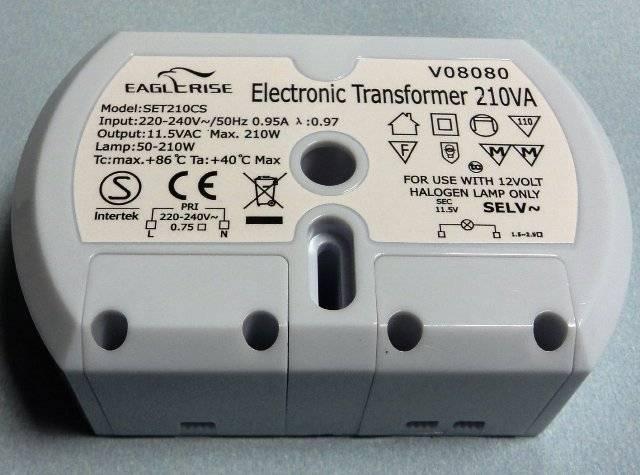 Как подключить галогенные лампы и правильно выбрать трансформатор?