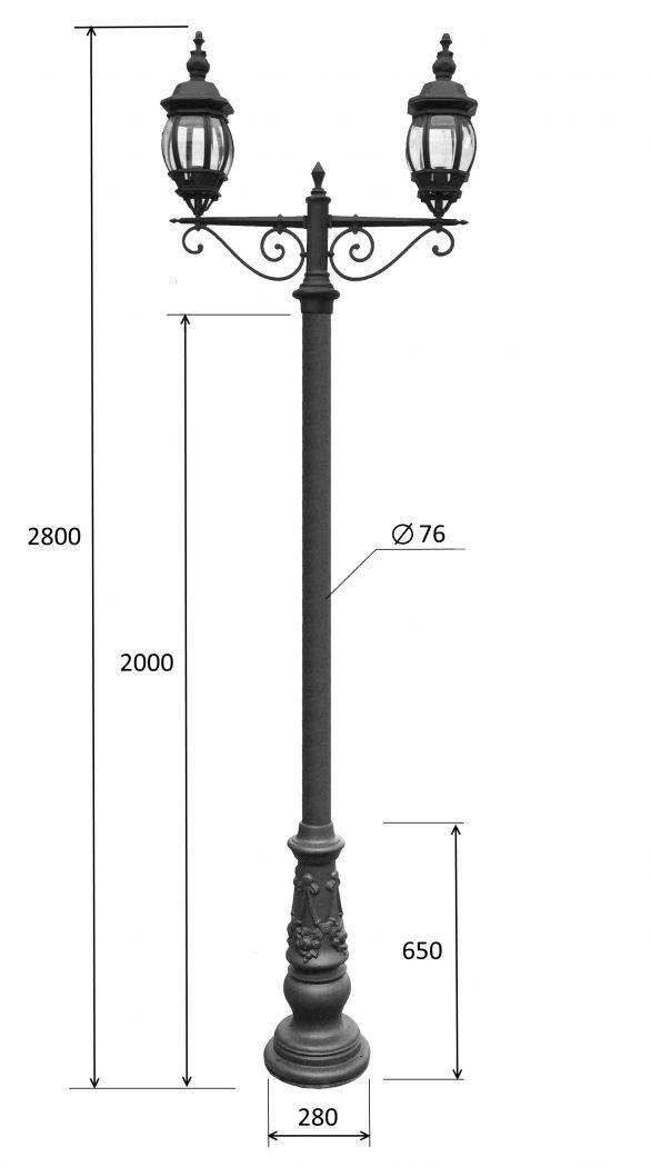 Расстояние от фонарных столбов и технические требования