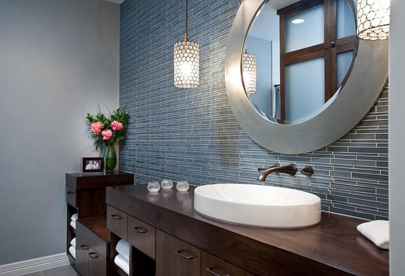 Освещение в ванной: выбор ламп и светильников ?(+70 фото идей)