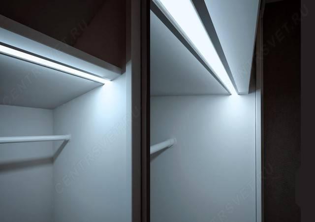 Освещение в шкафу-купе: для чего, чем можно и как правильно сделать подсветку