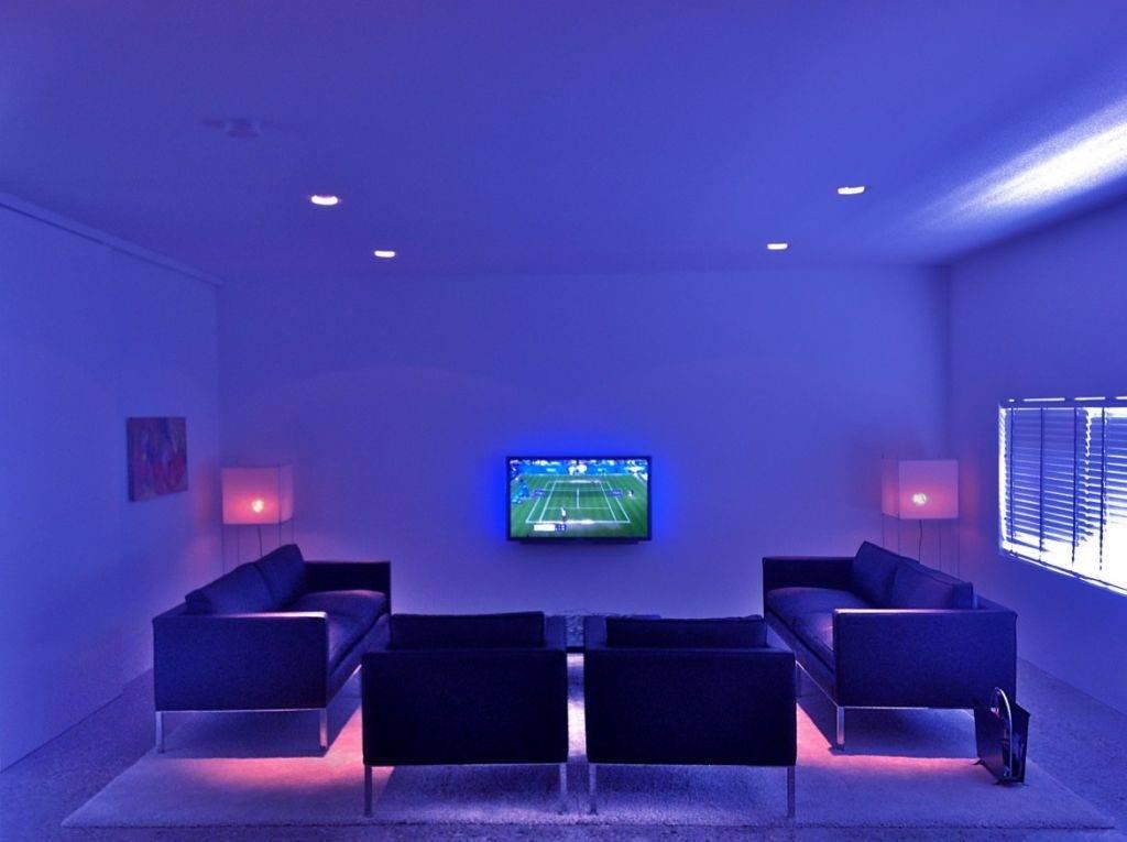 Неоновая подсветка в комнате: преимущества и недостатки, особенности обустройства