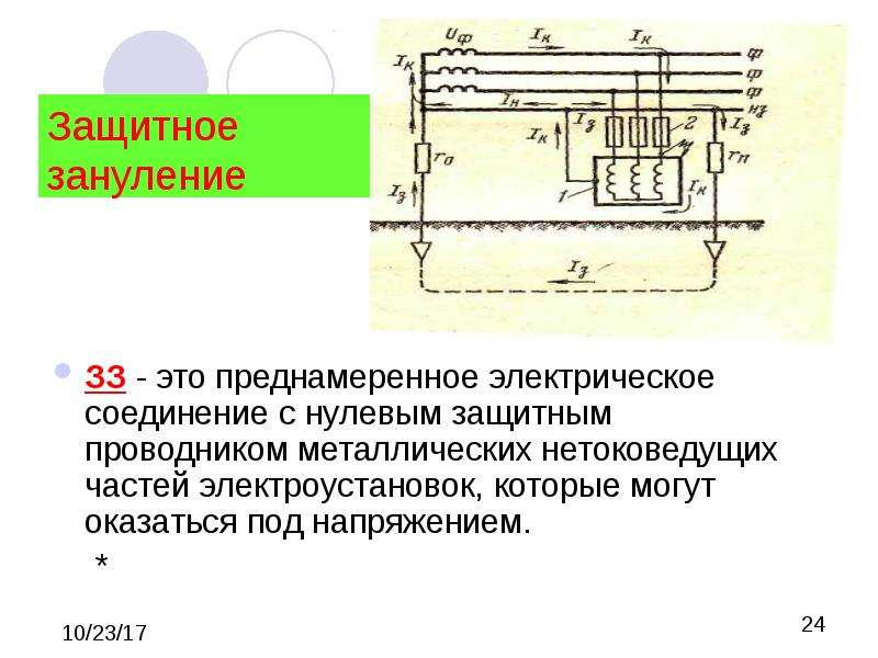 Заземление электроустановок и оборудования   правила и требования
