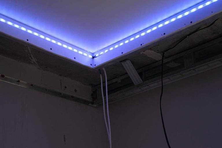 Как сделать подвесной потолок из гипсокартона своими руками с подсветкой пошаговая инструкция видео