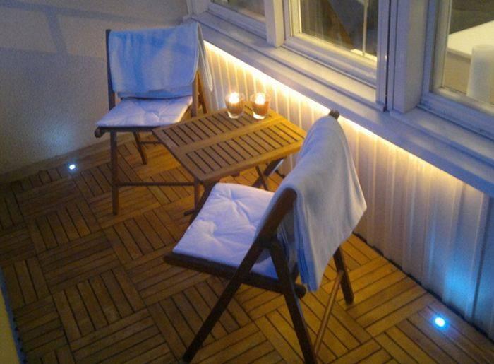 Освещение на балконе и лоджии, выбираем светильники и способы их размещения в зависимости от цели благоустройства - 17 фото