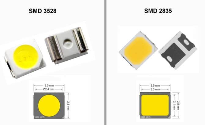Светодиодная лента smd 2835 - 2 вида, характеристики, сравнение, белая и rgb