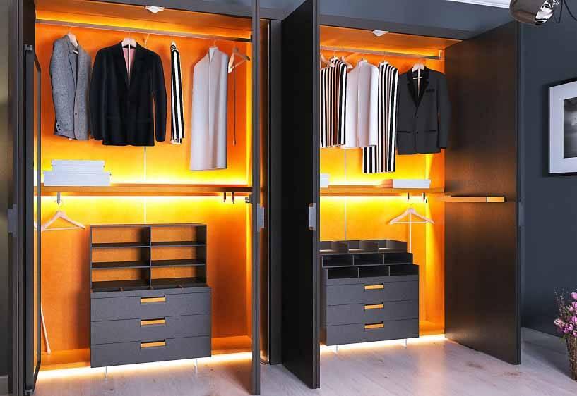 Подсветка в шкаф-купе: правильное изготовление своими руками, преимущества и недостатки