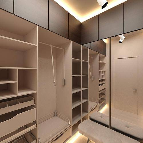 Выбор светильников для гардеробной и правила организации освещения