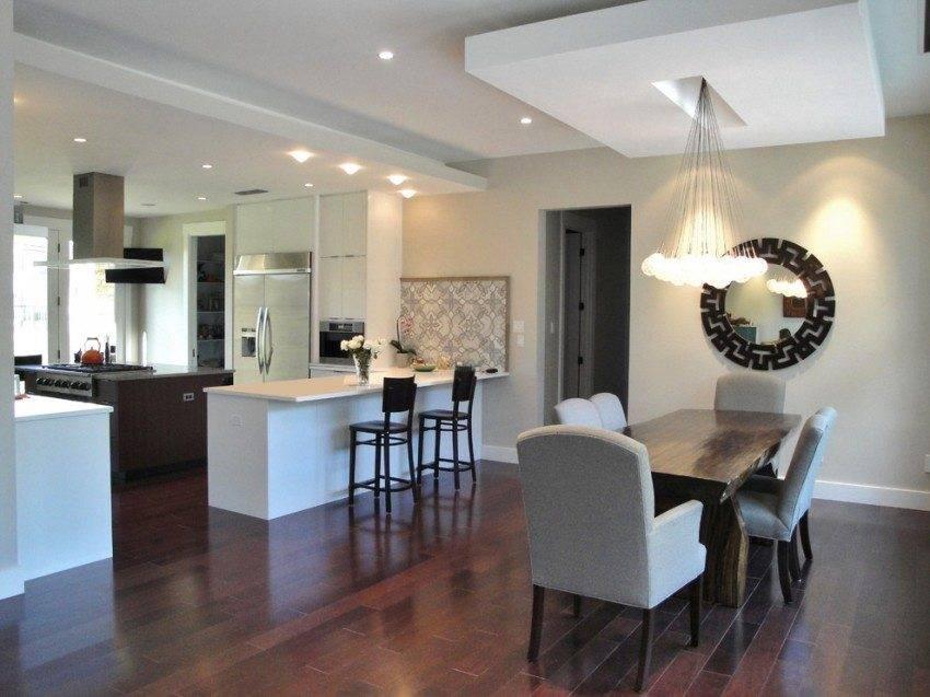 Как правильно организовать освещение в кухне-гостиной?