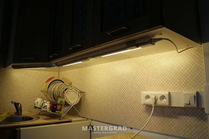 Подсветка рабочей зоны на кухне: топ-140 фото и видео идей подсветки на кухне. необходимость освещения рабочей зоны. виды освещения и ламп. уровни расположения светильников