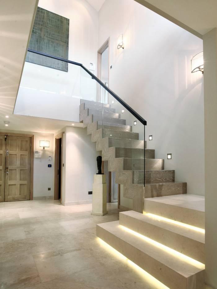 Подсветка ступеней лестницы в доме — как сделать своими руками
