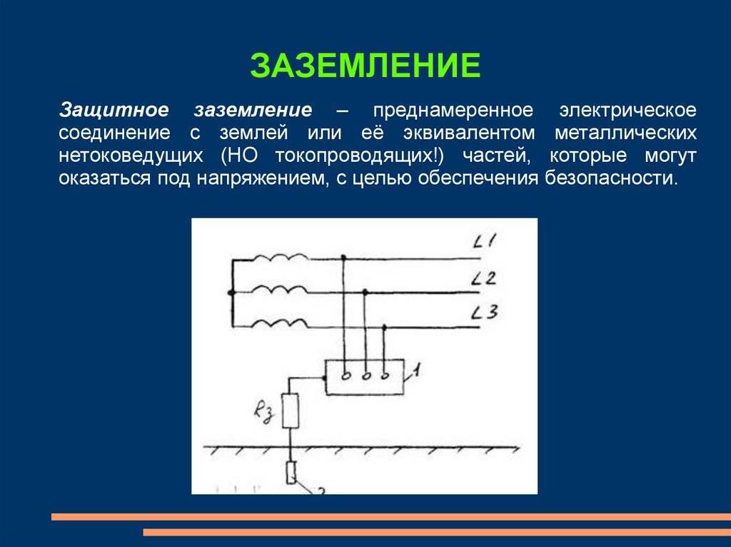 Системы заземления электроустановок, их виды, требования к ним, расчет заземляющего устройства для электрооборудования