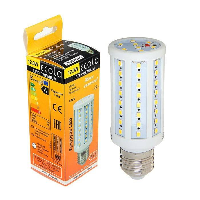Экола (ecola) - светодиодные и лампы и светильники