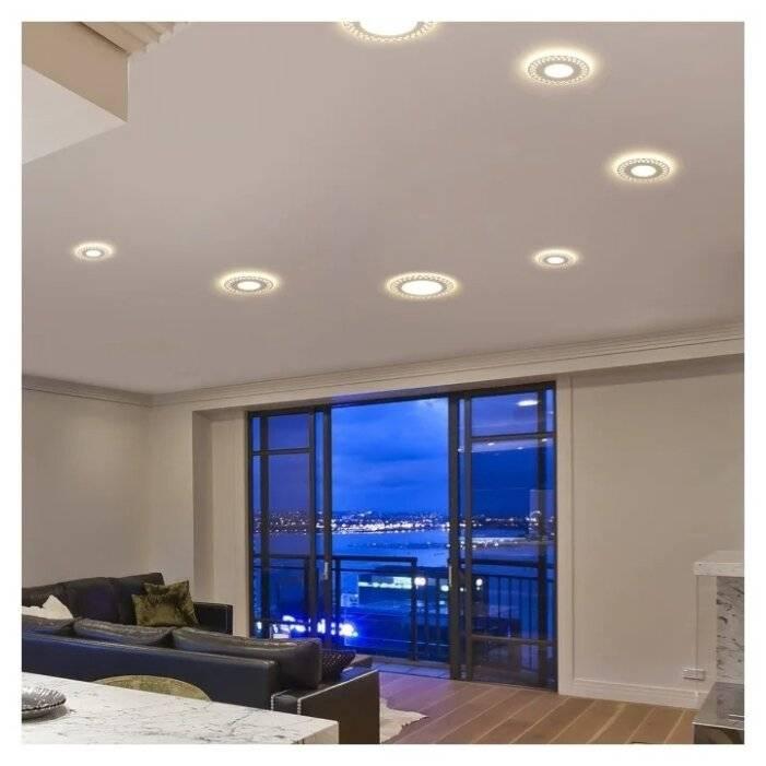 Каких размеров бывают встраиваемые светильники