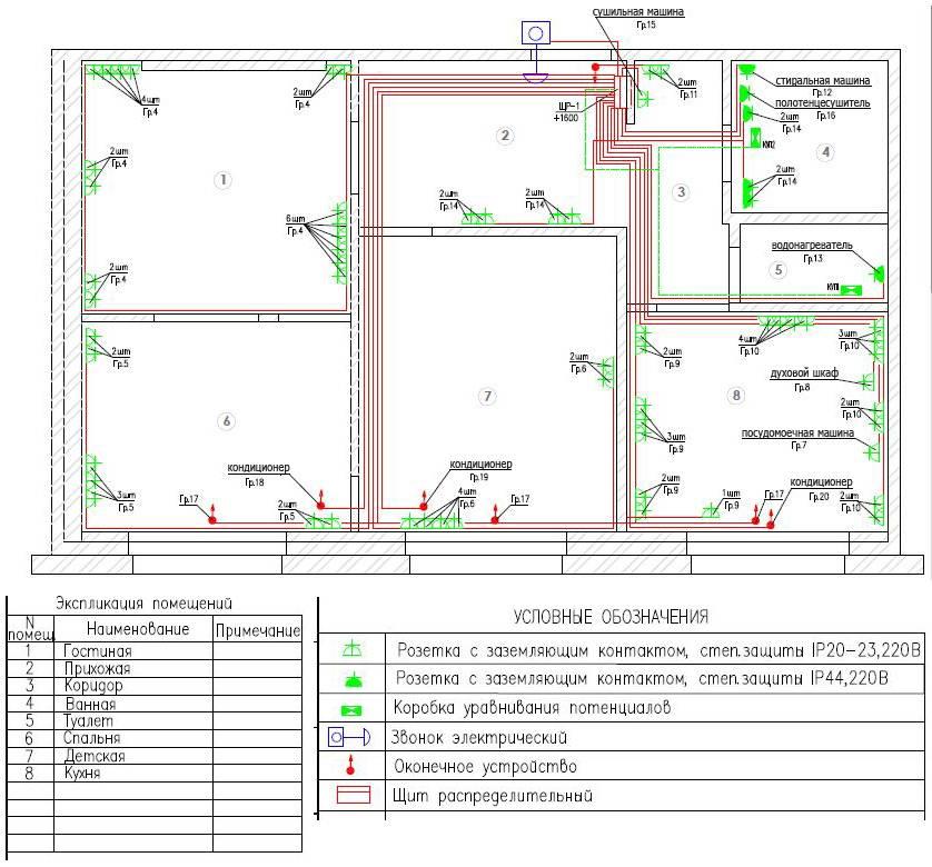 Проводка в домах 1967 года 5 этажей. типовые планировки квартир чтв, ап.  2011