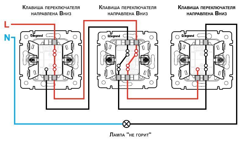 Перекрестный выключатель: схема подключения, особенности монтажа. выключатели legrand