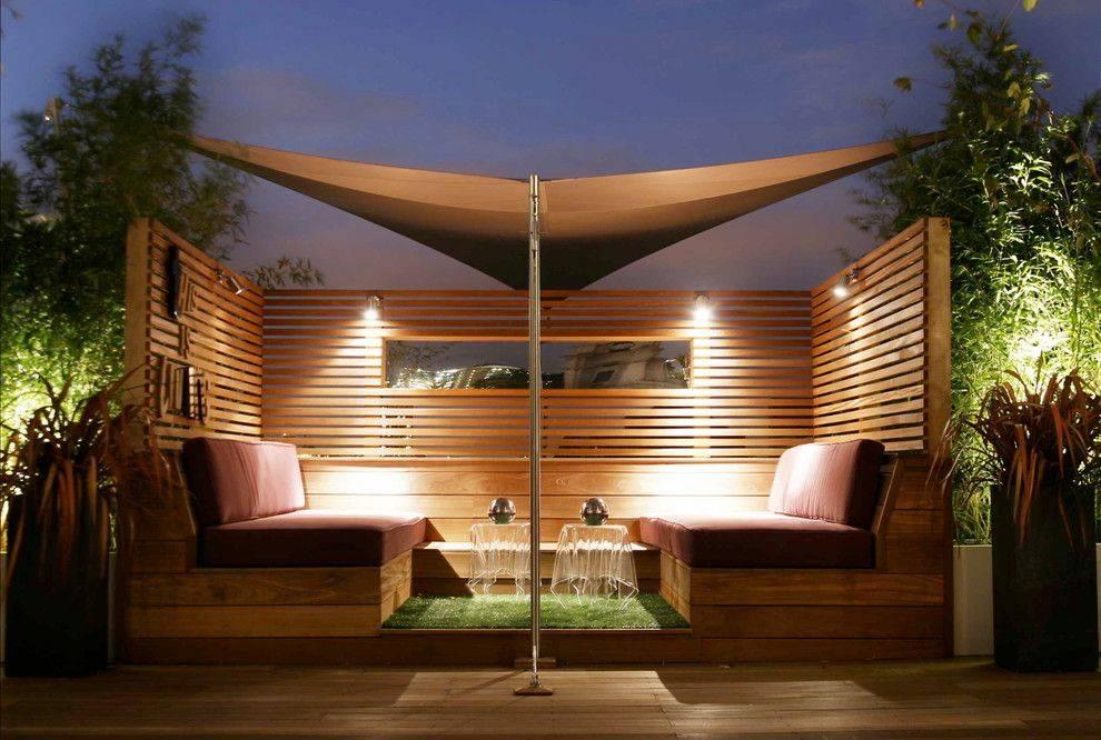 Терраса на крыше — светодиодное освещение