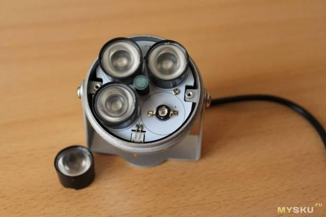 Установка инфракрасного прожектора для камеры видеонаблюдения