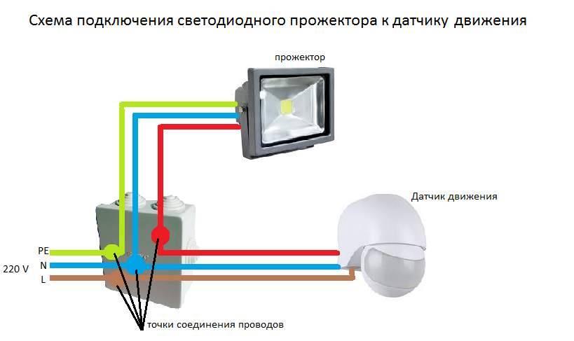Как подключить светодиодный прожектор к сети 220: этапы и правила монтажа