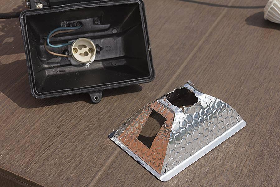 Светодиодный прожектор своими руками: материалы,  чертеж и схема, инструкция по сборке