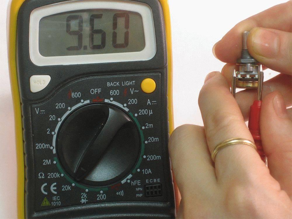 Как проверить потенциометр мультиметром: на работоспособность