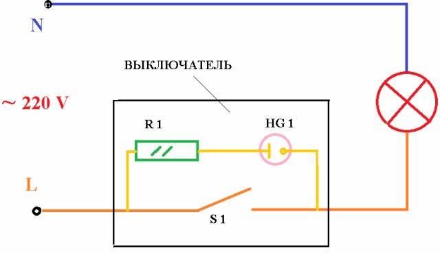 Схема подключения выключателя света с одной клавишей: инструкция