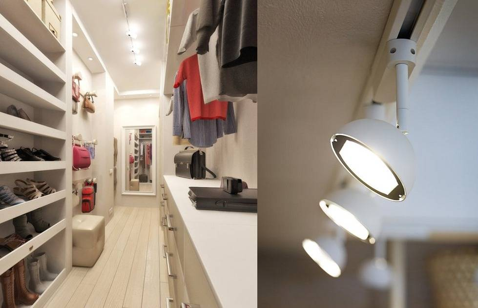 Подсветка шкафа купе и гардеробной комнаты.