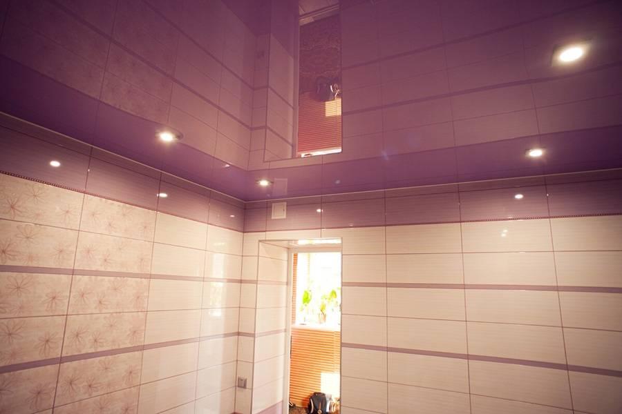 Как расположить точечные светильники на натяжном потолке в спальне с люстрой и без!