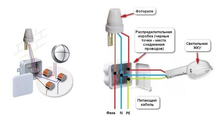 Фотореле для освещения: 85 фото установки системы, ее настройка и подключения