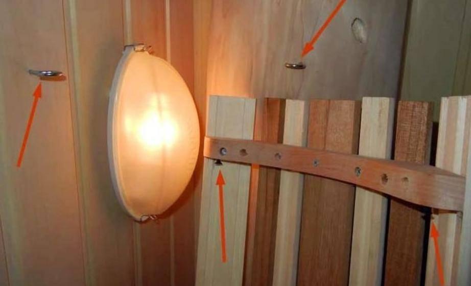 Как правильно сделать освещение парилки в бане своими руками