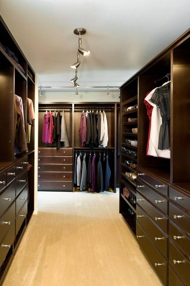 Свет в гардеробной: какие светильники выбрать, идеи