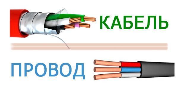 Отличие провода от кабеля:понятия и особенности