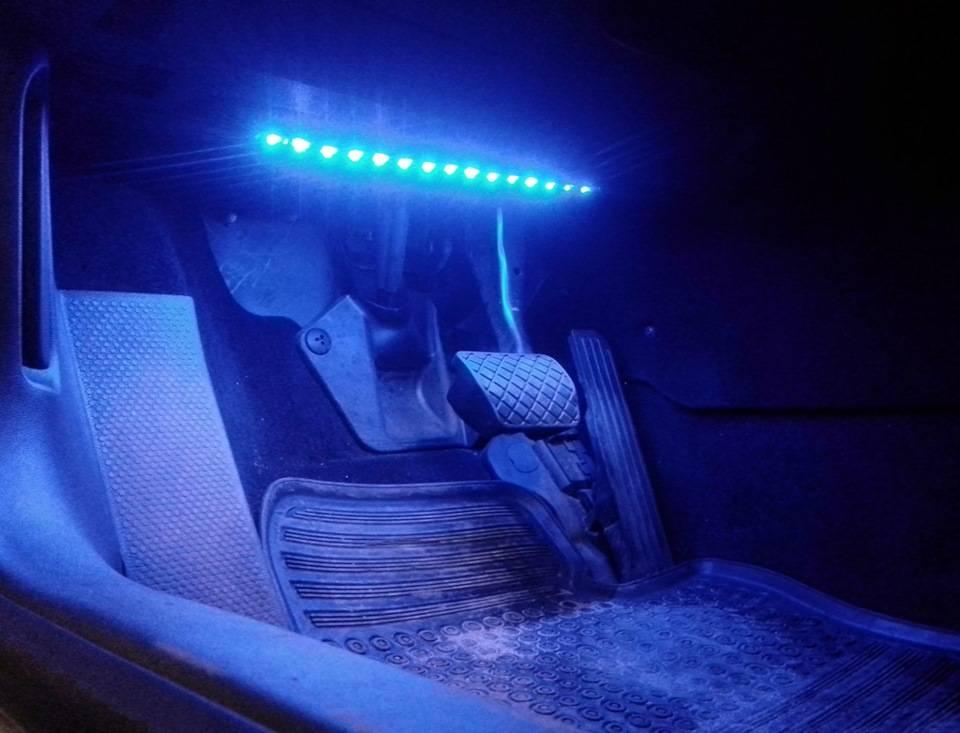 Как сделать подсветку салона автомобиля своими руками