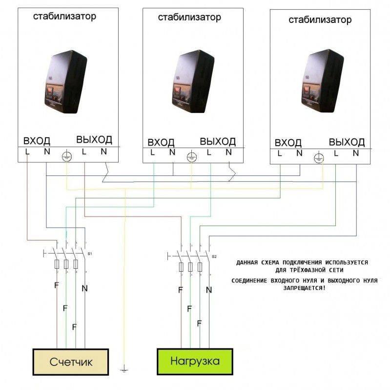Подключение стабилизатора напряжения пошаговая инструкция