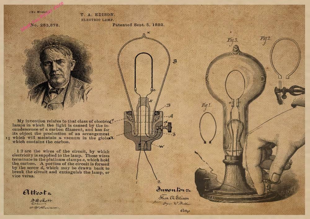 История изобретения электрической лампочки по этапам - свет и электрика