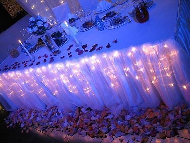 Как оформить свадьбу световыми гирляндами