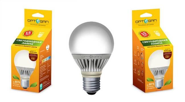 Оптоган выпускает на рынок первую оригинальную отечественную светодиодную лампу - оптолюкс е-27