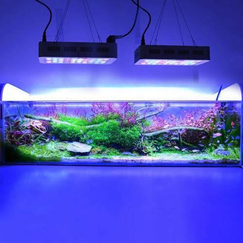 3 варианта крышки для аквариума - освещение светодиодными, люминесцентными лампами и led лентой.