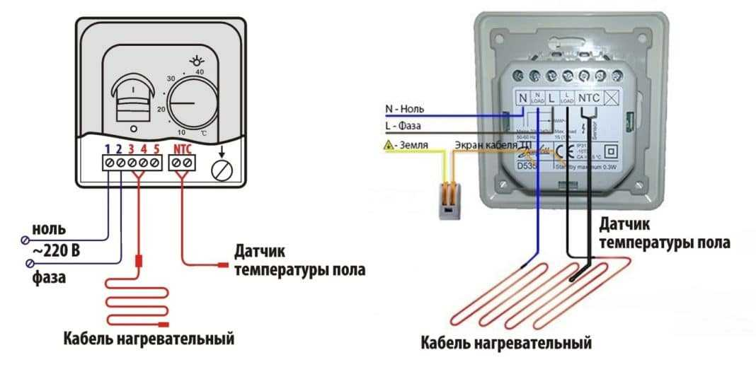Схема подключения теплого пола: основные правила