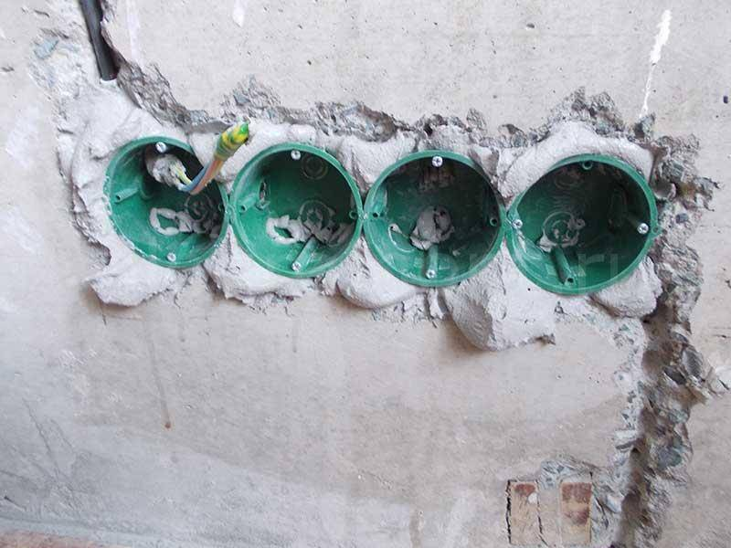 Инструкция по установке розеток в бетонные стены