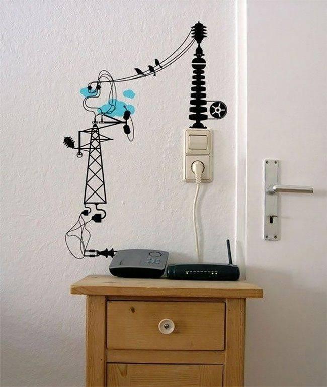 Как спрятать провода на стене красиво: практичные и стильные идеи маскировки